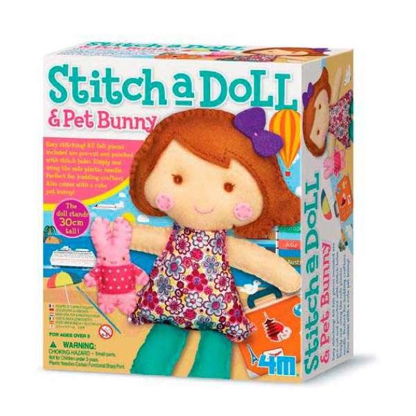 Набір для шиття іграшки 4M Лялька з кроликом (00-02765)