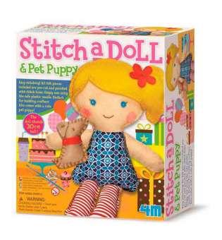 Набір для шиття іграшки 4M Лялька з цуценям (00-02767)