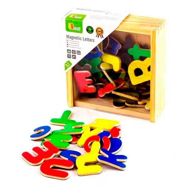Набір магнітних літер Viga Toys Англійські великі та малі, 52 шт. (50324)