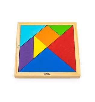 Гра-головоломка Viga Toys Кольоровий дерев'яний танграм, 7 ел. (55557)