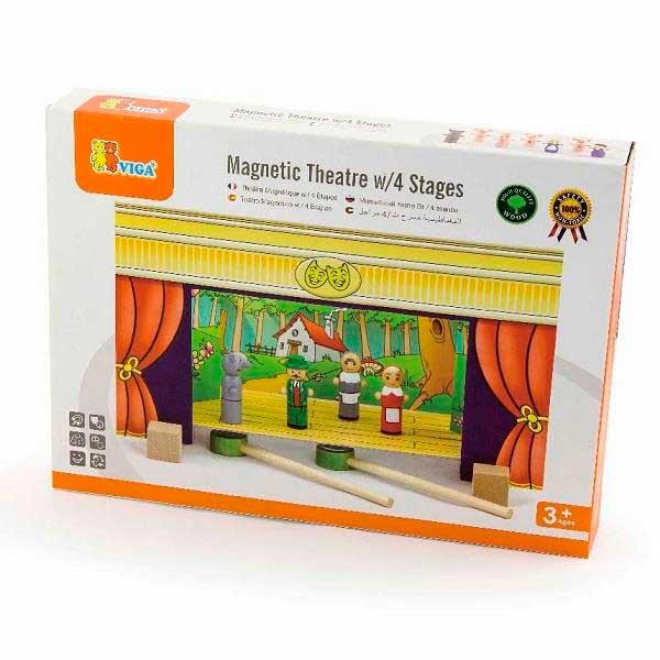 Дерев'яний ігровий набір Viga Toys Магнітний театр (56005)