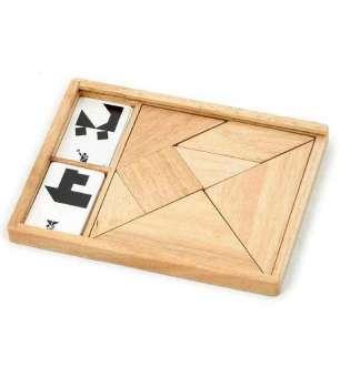 Гра-головоломка Viga Toys Дерев'яний танграм нефарбований, 7 ел. (56301)