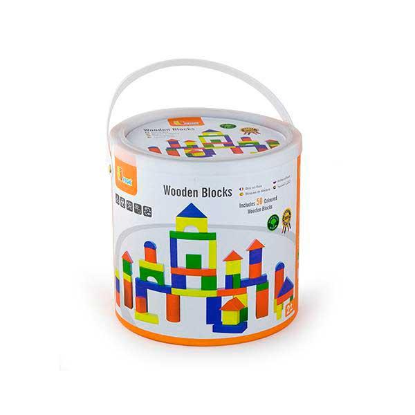 Дерев'яні кубики Viga Toys Барвисті блоки 50 шт., 3,5 см (59542)