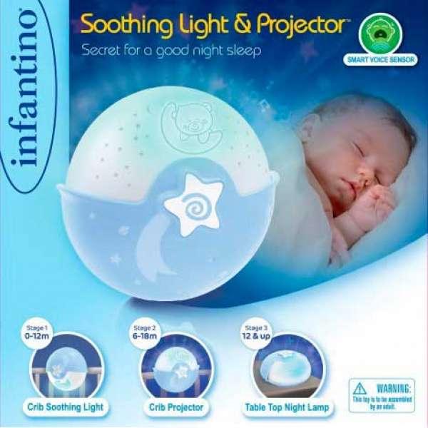 """INFANTINO Світильник """"Спокійні сни"""", блакитний"""