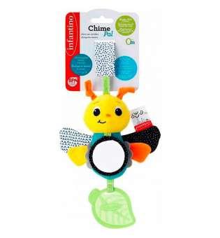 """Іграшка м'яка навісна для немовлят з прорізувачем INFANTINO """"Метелик"""""""