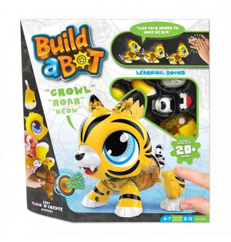 Ігровий набір Build a Bot Tiger тигр робот конструктор інтерактивна іграшка