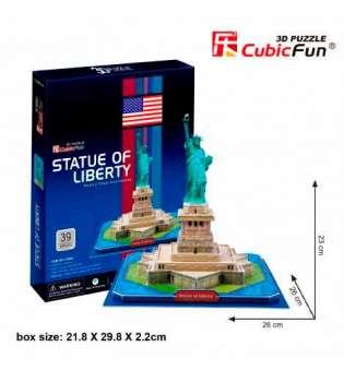 CubicFun Тривимірна головоломка-конструктор СТАТУЯ СВОБОДИ