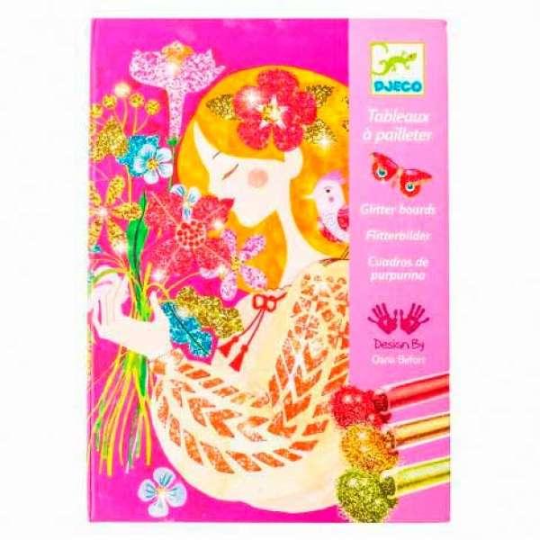"""DJECO Художній комплект малювання блискітками """"Аромат квітів"""""""