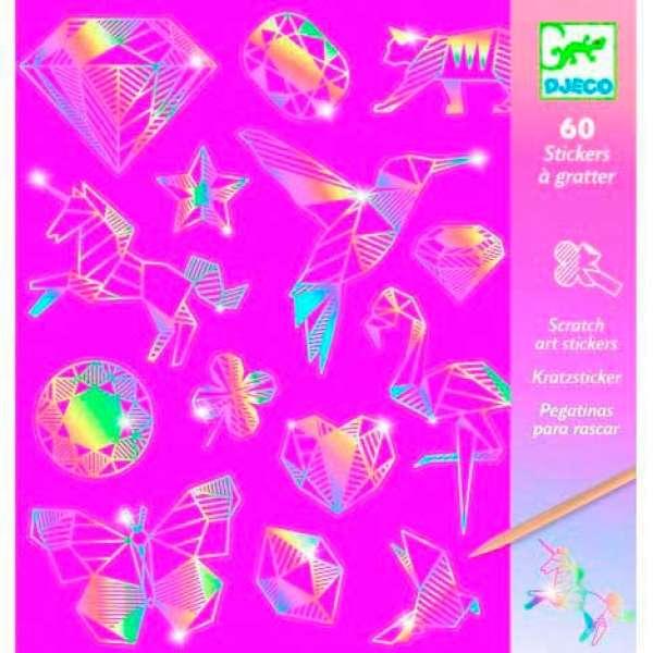 "DJECO Набір скретч-наклейок ""Діамант"", DJ09736"