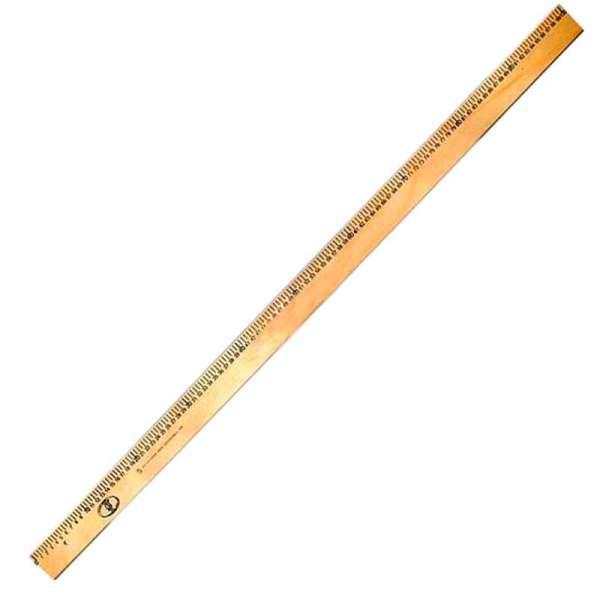 Лінійка дерев'яна 100 см (шовкографія)