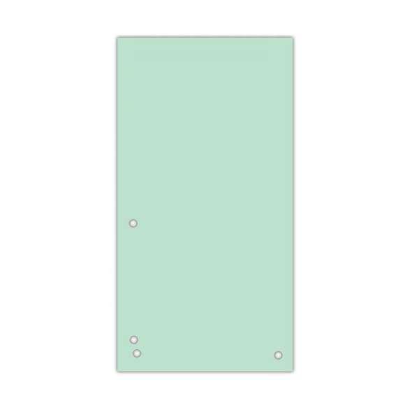 Індекс-розділювач 105х230 мм, 100шт., картон, зелений