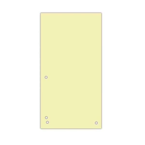 Індекс-розділювач 105х230 мм, 100шт., картон, жовтий