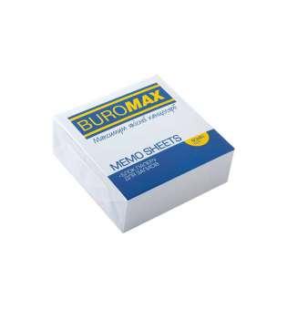 Блок білого паперу для нотаток, 80х80х30мм, не склеєний