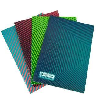 Зошит канцелярський, JOBMAX, А4, 48 арк., лінія, офсет, картонна обкладинка, асорті