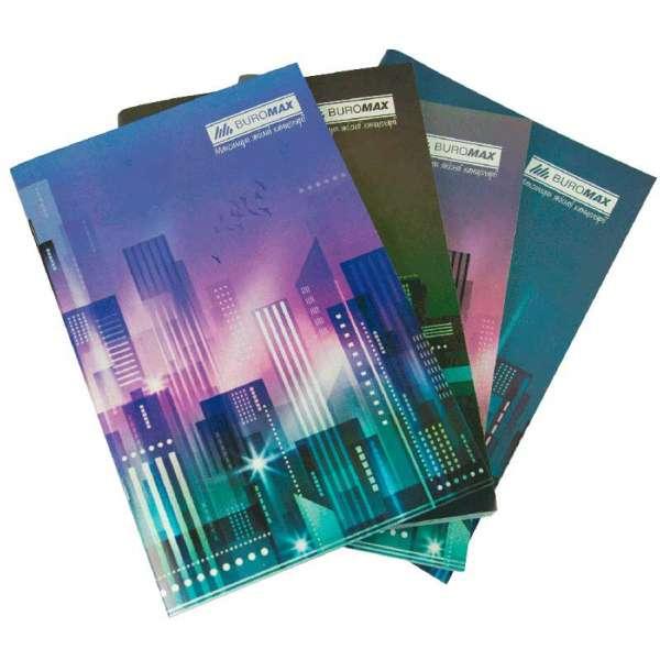 Зошит канцелярський, JOBMAX, А4, 96 арк., клітина, офсет, картонна обкладинка, асорті