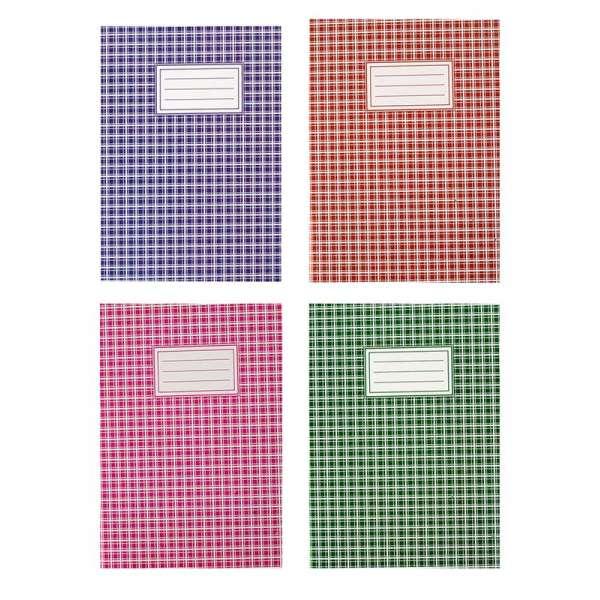 Зошит канцелярський, А4, 48 арк., клітинка, офсет, картонна обкладинка, асорті