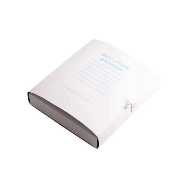 Папка архівна на завя`зках А4, картон 0,35 мм , клеєний клапан