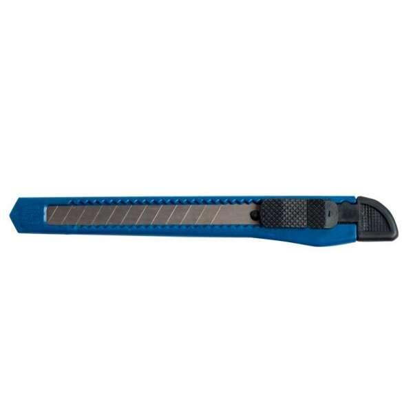 Ніж канцелярський, JOBMAX, 9мм, пластиковий корпус, синій