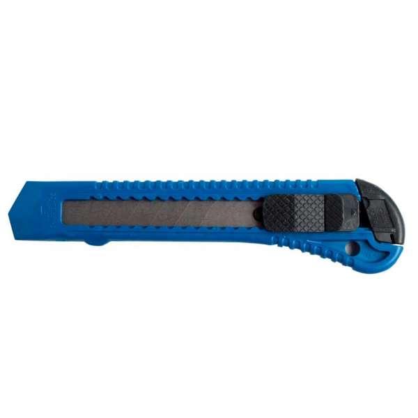 Ніж канцелярський, JOBMAX, 18мм, пластиковий корпус, синій