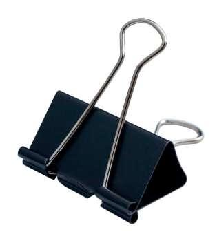 Біндер-затискач для паперу, 51 мм, чорний, по 12 шт. в карт.коробці