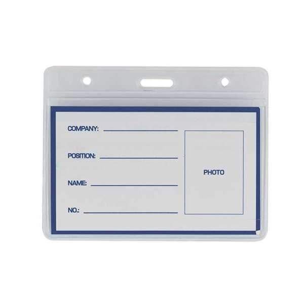 Бейдж-ідентифікатор горизонтальний, пласт., 95х75мм(ціна за 10шт.)