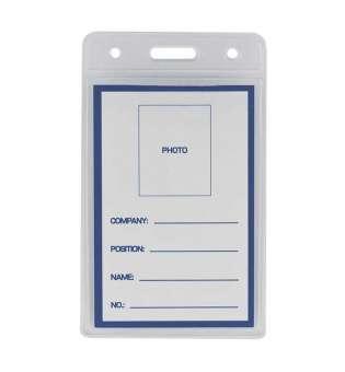Бейдж-ідентифікатор вертикальний, пласт., 65х109мм(ціна за 10шт.)(ціна за 10шт.)