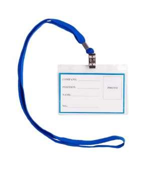 Бейдж-ідентифікатор горизонтальний, пласт., 110х80мм, зі шнурком для кріплення(ціна за 50шт.)