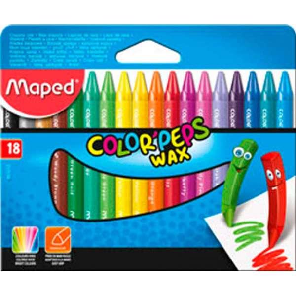 Крейда воскова COLOR PEPS Wax Crayons, 18 кольорів