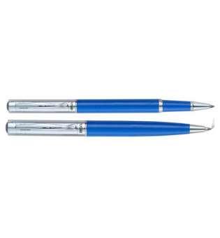 Комплект ручок (кулькова+ролер) в подарунковому футлярі L, синій