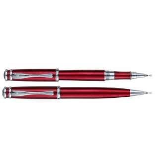 Комплект ручок (кулькова+ролер) в подарунковому футлярі L, червоний