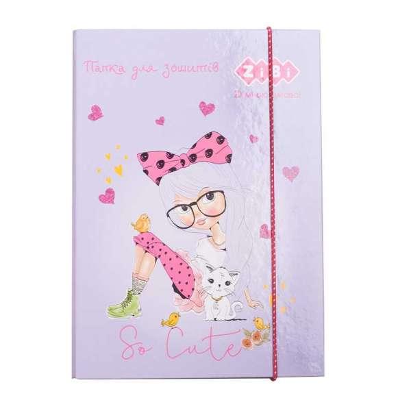 Папка для зошитів PRINCESS, картонна, на гумках В5+, KIDS Line