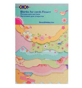 Набір заготовок для листівок FLOWER, 18 шт.