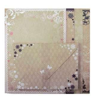 Набір заготовок для листівок з кольоровими конвертами VINTAGE