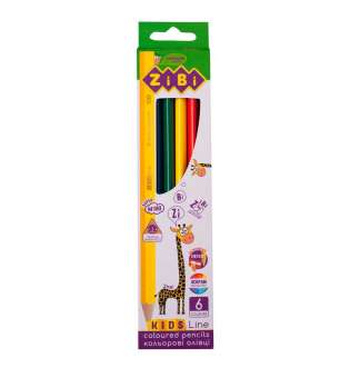 Кольорові олівці, 6 кольорів, KIDS Line