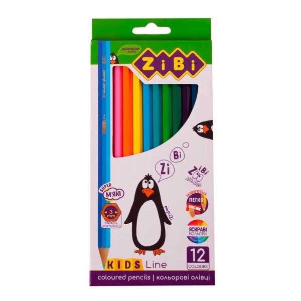 Кольорові олівці, 12 кольорів, KIDS Line