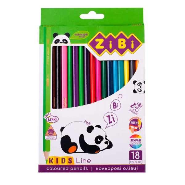 Кольорові олівці, 18 кольорів, KIDS Line