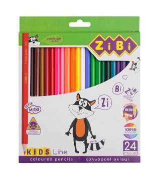 Кольорові олівці, 24 кольорів, KIDS Line