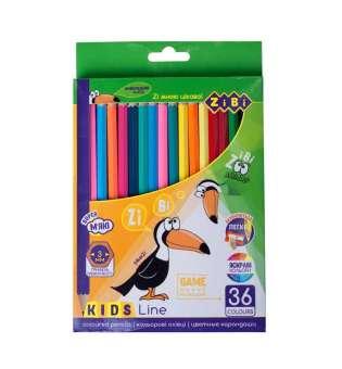 Кольорові олівці, 36 кольорів, KIDS Line