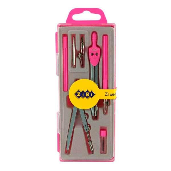 Готовальня BASIS 7 предметів, рожевий, KIDS Line