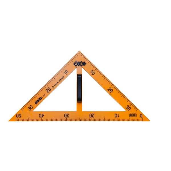 Косинець TEACHER 90°/45° для шкільної дошки 50 см, жовтий, KIDS Line