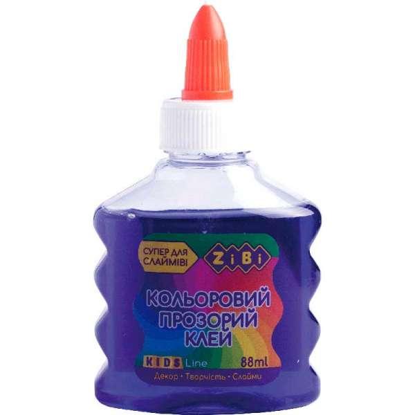 Клей (для слаймів) фіолетовий прозорий на PVA-основі, 88 мл