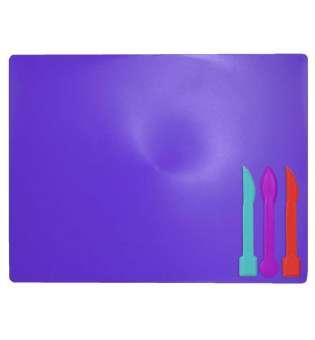 Дошка для пластиліну + 3 стеки для ліплення, фіолетова
