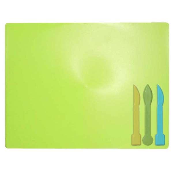 Дошка для пластиліну + 3 стеки для ліплення, салатова