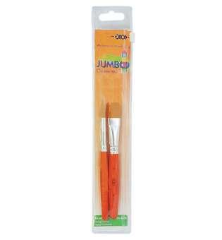 Набір пензликів Jumbo kids:синтетика круглий 12; синтетика плаский 16. В пеналі 2шт., BABY Line