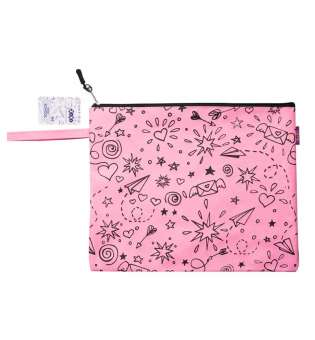Папка А4 ШКОЛА, 33х26х1 см, котон і поліестер, рожева