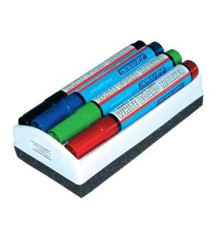 Набір з 4 маркерів + губка для дошок сухого стирання