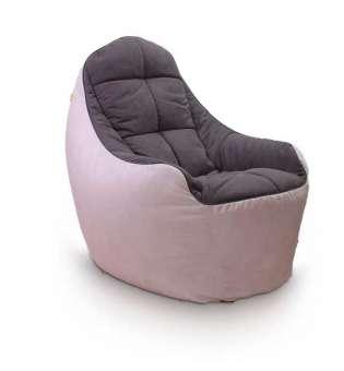 Безкаркасне крісло Fluffy-Bag BOSS Smokey Grey XL A-819