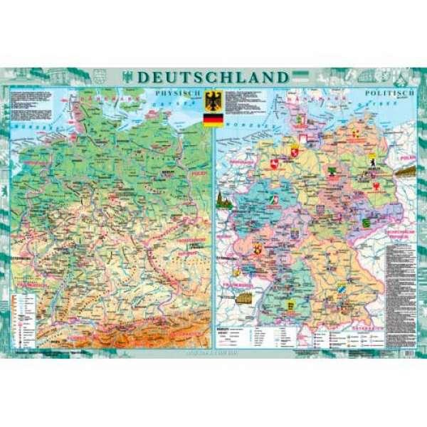 Deutschland (Німеччина) м-б 1:1 000 000