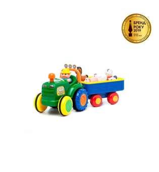 Іграшка На Колесах - Трактор З Трейлером (Українською)