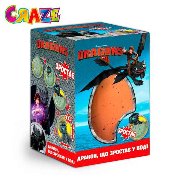 Іграшка, що зростає, в яйці - DreamWorks Dragons